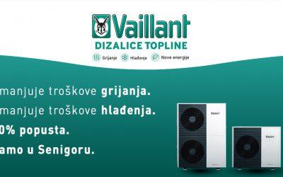 20% POPUST NA VAILLANT DIZALICE TOPLINE